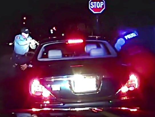 Screenshot from Bridgeton Police dashcam video shows
