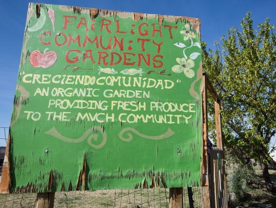 Pictured is a sign, painted by a former resident of