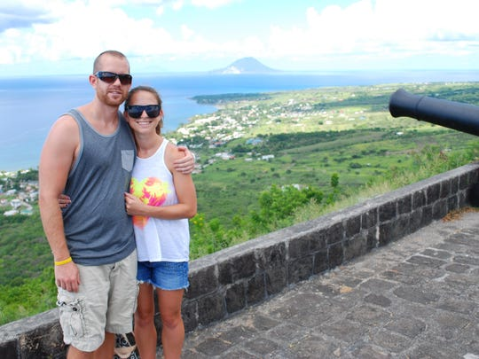 Jackson and Amy are both vet students who attend Ross University in St. Kitts. They're at Brimstone Hill Fortress.