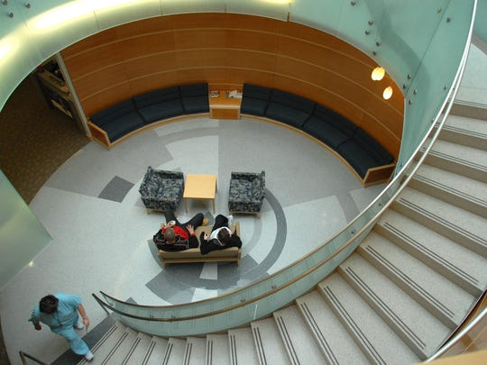 A seating area at Bayhealth Kent General Hospital in Dover.
