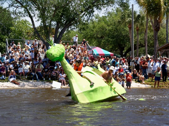 Crowds often come for the fun of watching boats sink