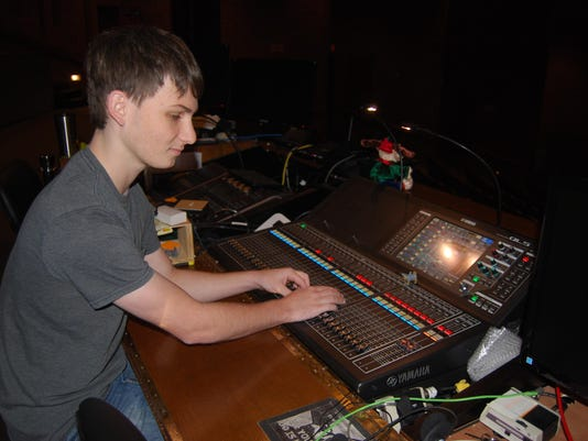 Student handled sound for many school productions