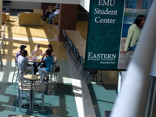 Eastern Michigan University student center.