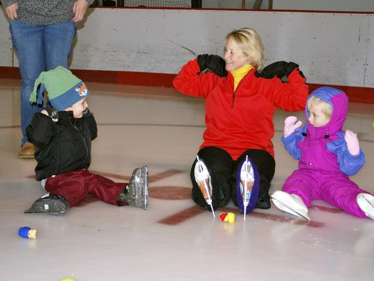 An Itty Bitty Public Skating session at Leddy Park Arena in Burlington is pictured in this file photo.