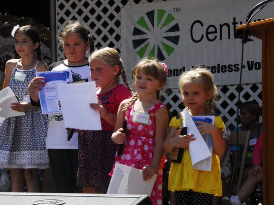 Five girls won honors in the Bratwurst Festival pigtail contest Thursday afternoon in Bucyrus.