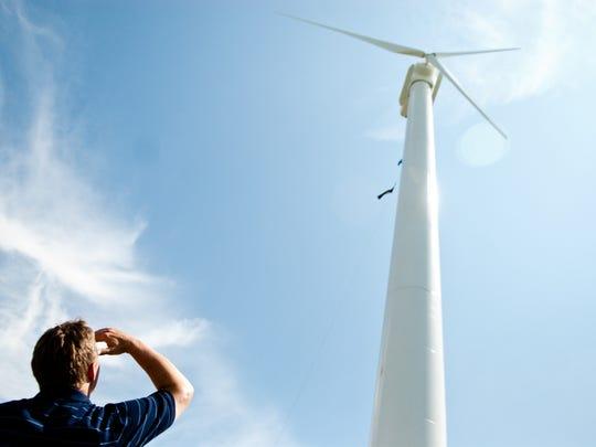Dynapower Corporation's wind turbine in South Burlington
