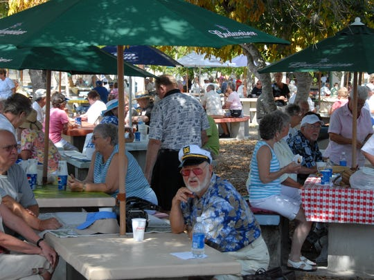 People relax at the German-American Social Club of Cape Coral as it celebrates Gartenfest. The event this year will be held on Sunday, Feb. 8 and Sunday, March 8.