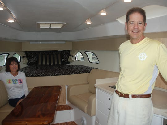 Gary and Barb Mozina are looking forward to lots of overnight trips aboard their new vessel, Salty Lady.