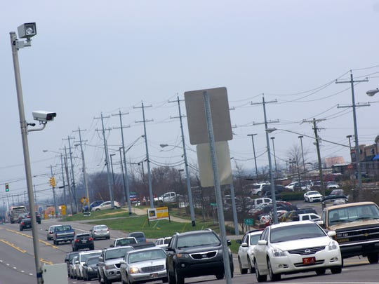 First installed in October 2006, Gallatin's red-light cameras are at four of the city's busiest intersections, including Nashville Pike at Belvedere Drive.