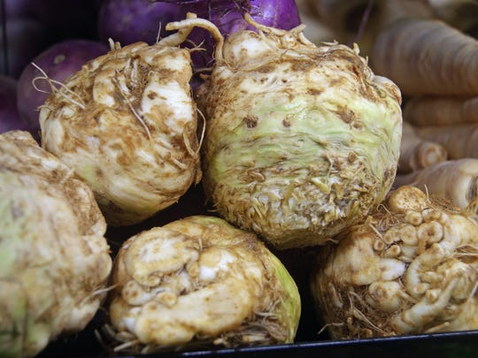 Celery root is shown at LifeSource.