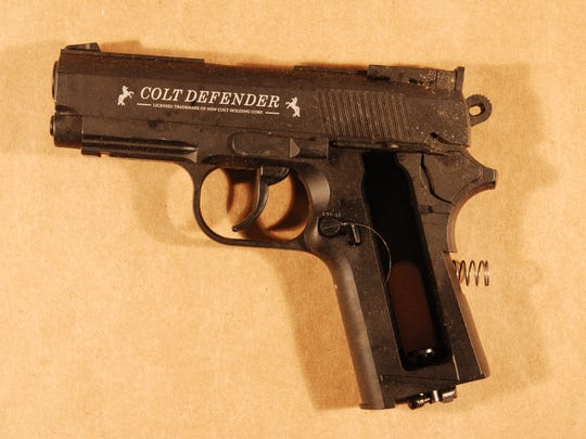 Police say James Long displayed this gun at officers. They later discovered it was a pellet gun.
