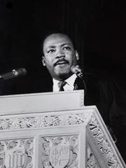 Martin Luther King, Jr. (1929 - 1968) delivers his last Sunday sermon at the National Cathedral in Washington DC, 31st March 1968. He was assassinated four days later. (Photo by Morton Broffman/Getty Images)
