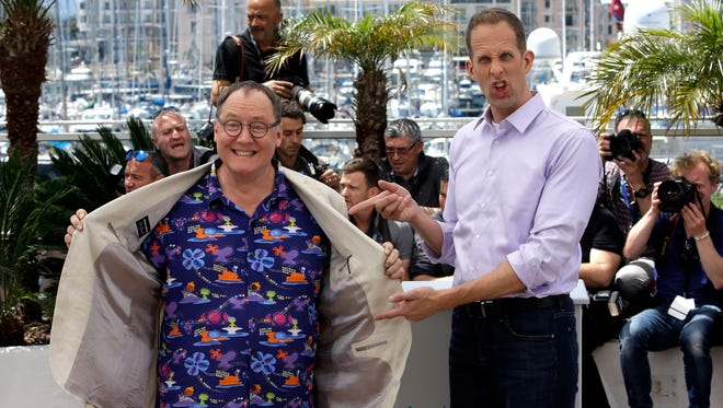 Pixar chief John Lasseter, left,  and director Pete Docter say 'Inside Out,' which premiered at the Cannes Film Festival, explores universal themes.