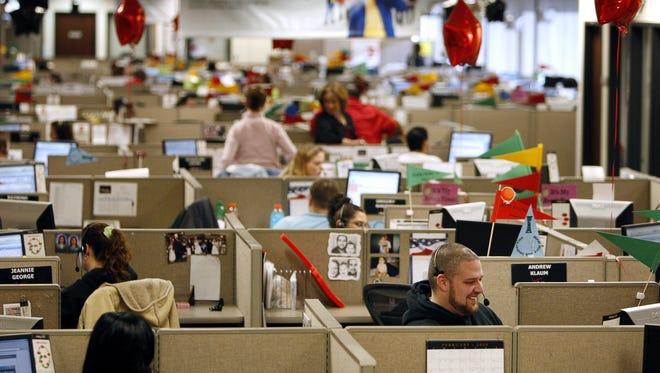 The Verizon Call Center in Henrietta is shown in this 2009 file photo.