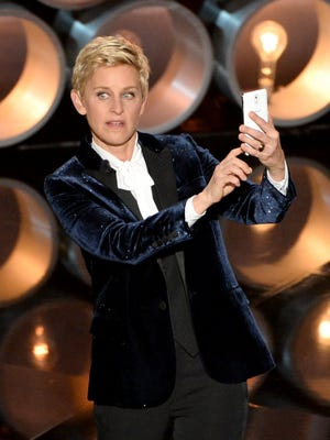 Ellen DeGeneres dialed up the Oscar ratings to their best level in a decade, with 43.7 million viewers.