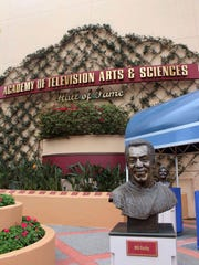 Bronze bust of Bill Cosby at Hollywood Studios theme