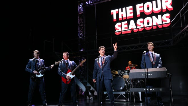 """""""Jersey Boys,"""" the story of pop music group the Four Seasons, was the biggest show ever at Elmira's Clemens Center."""