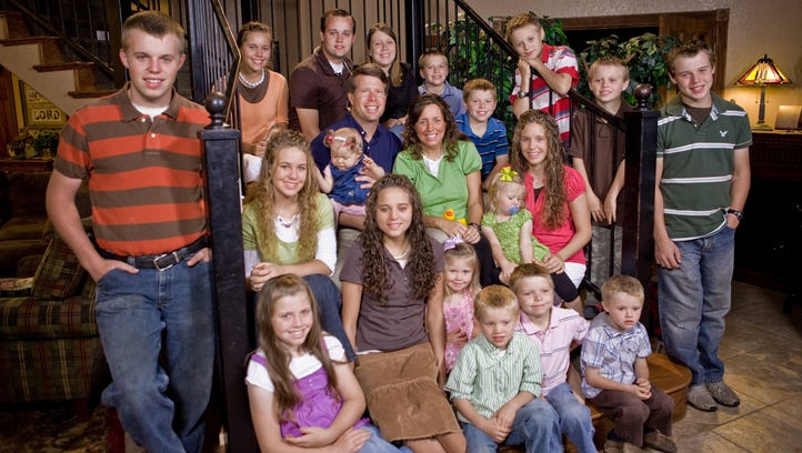 """The Duggar family from TLC's television program """"19"""