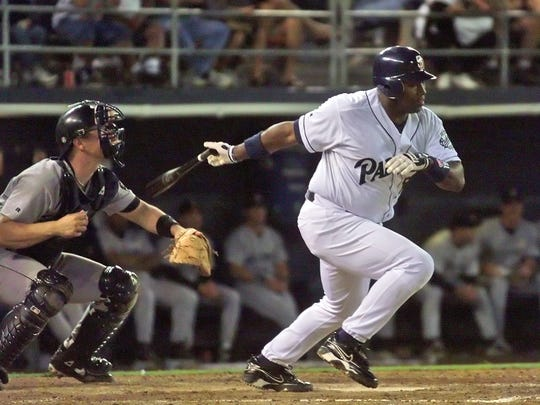 ** ADVANCE FOR WEEKEND EDITIONS, JULY 28-30 ** FILE ** San Diego Padres' Tony Gwynn slaps into his third ground ball out of the night during the Padres 5-1 loss to the Houston Astros in this July 30, 1999 file photo in San Diego. (AP Photo/Lenny Ignelzi)