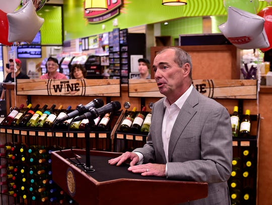Sheetz board director Louie Sheetz, speaks during a