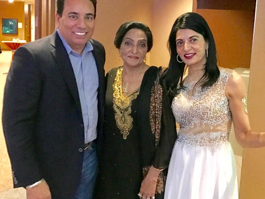 The multi-cultural Annenberg Center at Eisenhower was picked as the place for longtime friends and fellow entrepreneurs to celebrate the New Year Indian-style, including (L to R) Nachhattar Singh Chandi, Prem Gill, and Dr. Mina Narula.