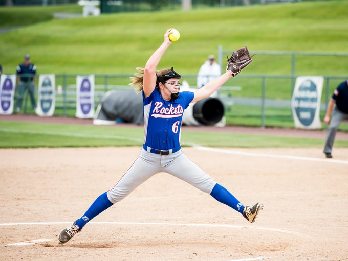 Spring Grove's Julia Wivell pitches against Bishop