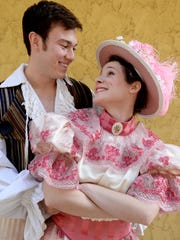 """Sarah Bauer and John Riesen will be in the Shreveport Opera's performance of """"Pirates of Penzance."""""""