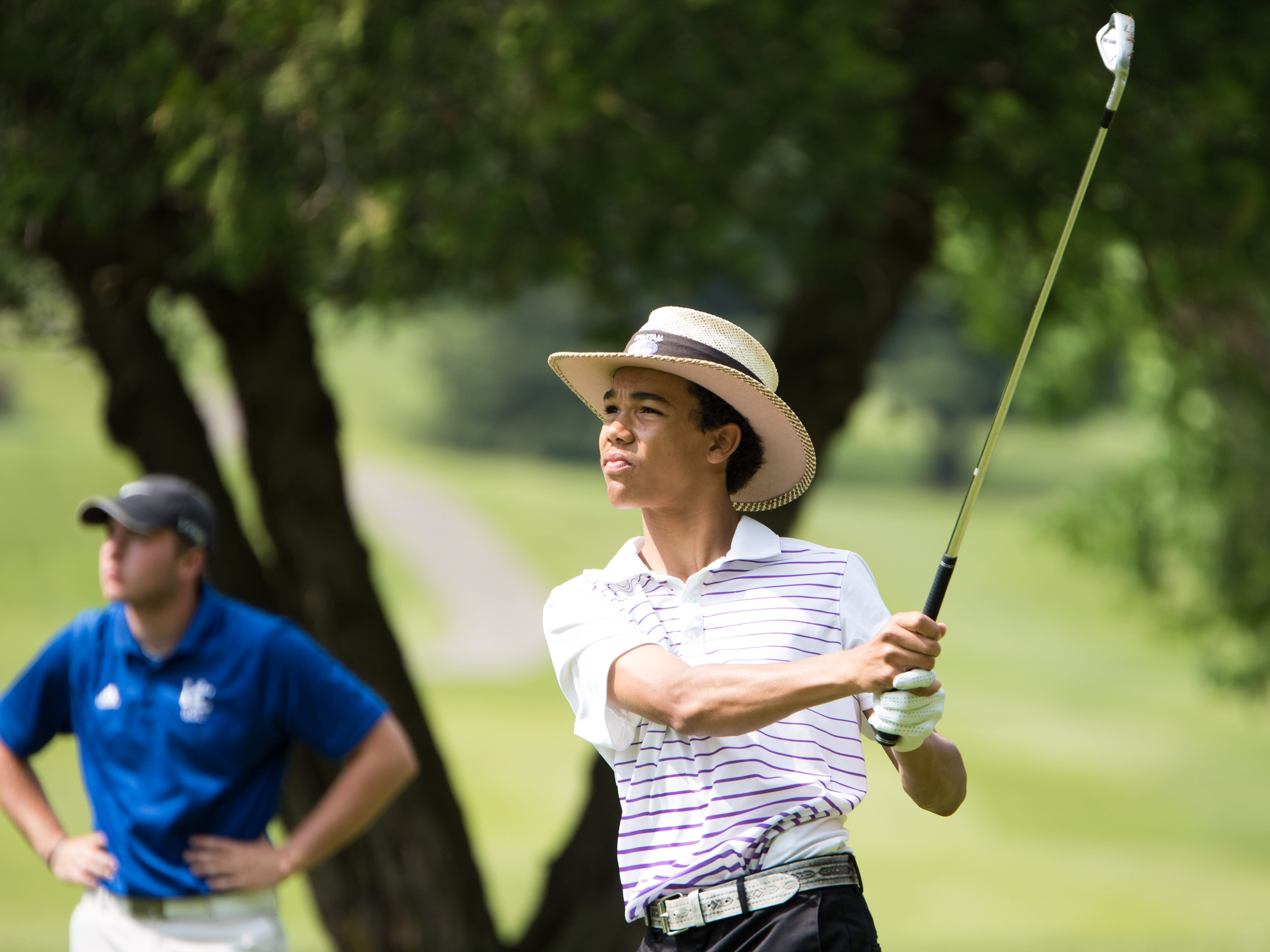 Lakeview's Andrew Walker took first at the All-City golf tournament on Friday at Binder Park Golf Course.