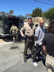 A SWAT team from the Monterey County Sheriff's Office were in a five-hour standoff with a wanted parolee in Salinas on Wednesday.