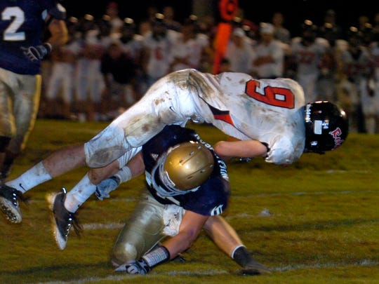 Maryville's Stian Romberg flips over Catholic's Tyler