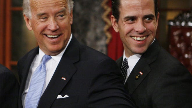 Hunter Biden with his father, Vice President Joe Biden, in January 2009.