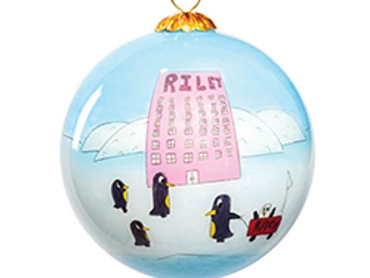 This penguin ornament was designed by Riley kid Jace