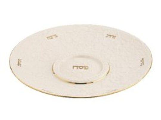 A Lenox seder plate.