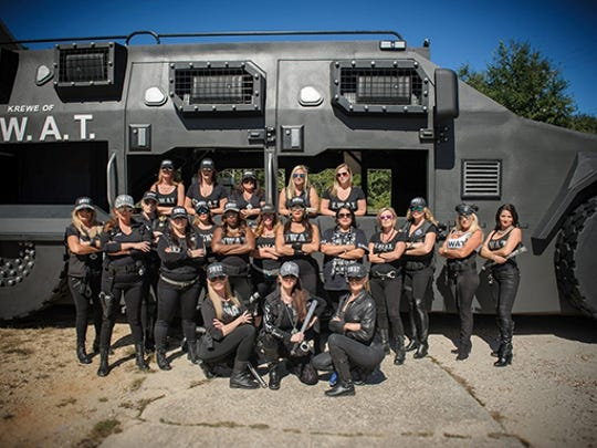 """The Krewe of S.W.A.T. is a service-based organization. Their float is aptly named """"The Beast."""""""