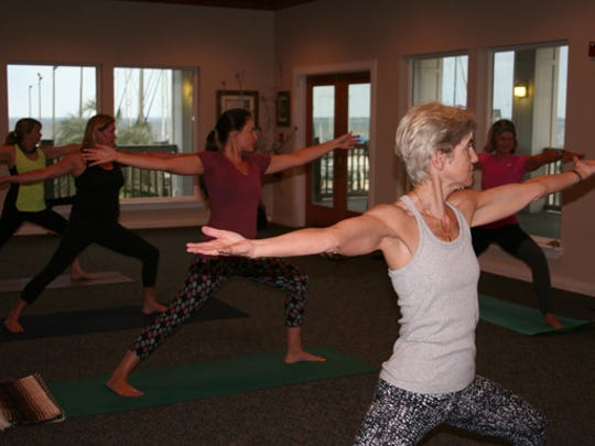 Students enjoy the benefits of the practice under Carol Payne's guidance.
