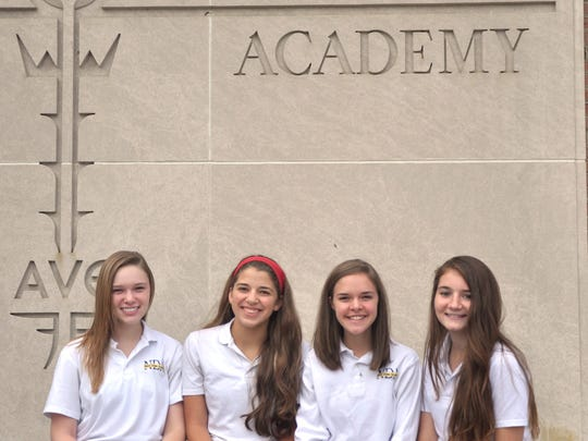 Notre Dame Academy semifinalists are Carly Gross, Lily Thaman, Kelsey Sucher and Andrea Davis.