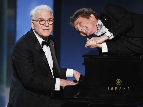 Steve Martin (left) and Martin Short perform on June
