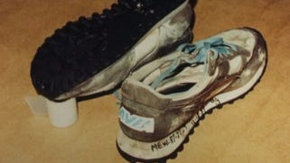 These are the women's running shoes that first led investigators to question the gender of a murder victim found in Port Chester in 1987