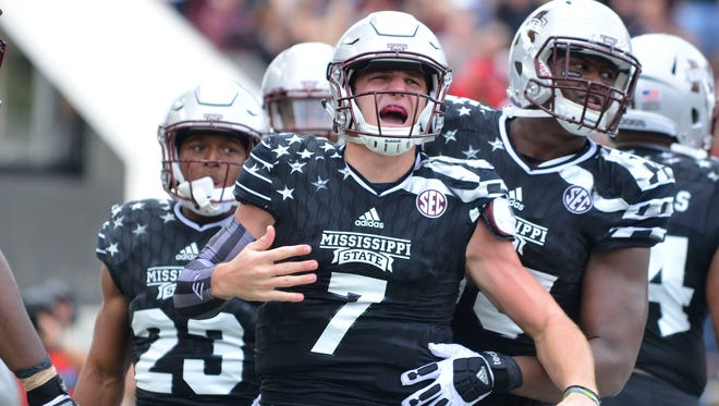 Mississippi State quarterback Nick Fitzgerald joined the team during 2013's bowl practices.