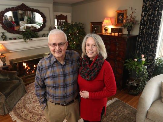 Joe and Linda Hanna in their home on Newcastle Road