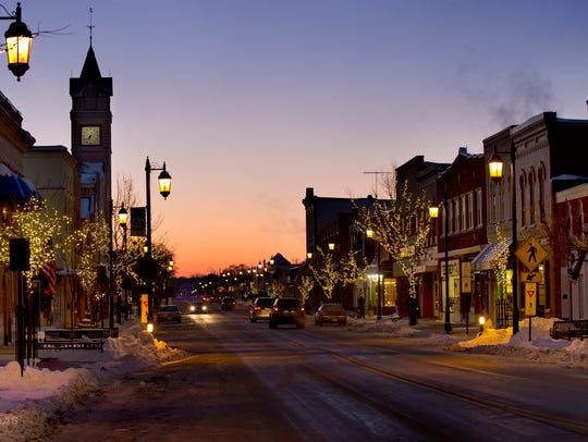 Pictured above is downtown Oconomowoc.