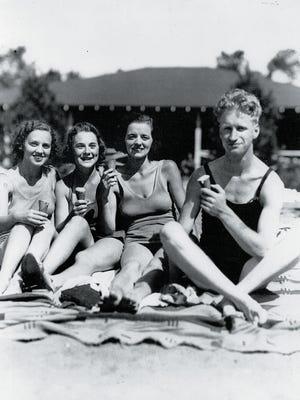 Bathers at Upper Saddle River's Anona Park, circa 1930