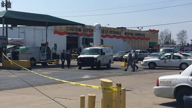 A woman's bodywas found in a tote inthe back of a van about 1:30 p.m. Wednesday at the U-Haul lot in the 4000 block of South East Street.