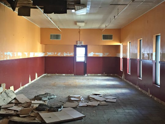 The inside of the former Shranks Cafeteria building
