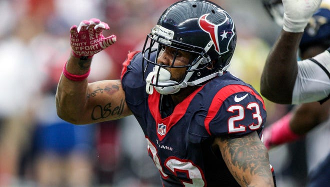 Texans running back Arian Foster rushed for only 542 yards and one touchdown this season.