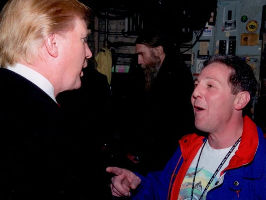 Donald Trump and Billy Procida backstage at the Beacon