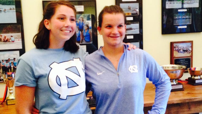Caleigh Sewell and Abby Hudspeth have signed to row in college for the University of North Carolina. Both girls are members of the Asheville Youth Rowing Association and attend high school at Roberson.