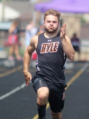 Ryle senior Jake Chisholm during the KHSAA Class 3A, Region 5 track and field championships May 12, 2018 at Campbell County HS, Alexandria KY.