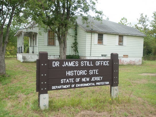 The old office of Dr. James Still. The late Still was