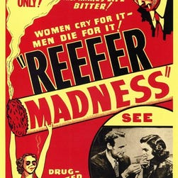 """Movie poster for the 1936 scare film """"Reefer Madness."""""""